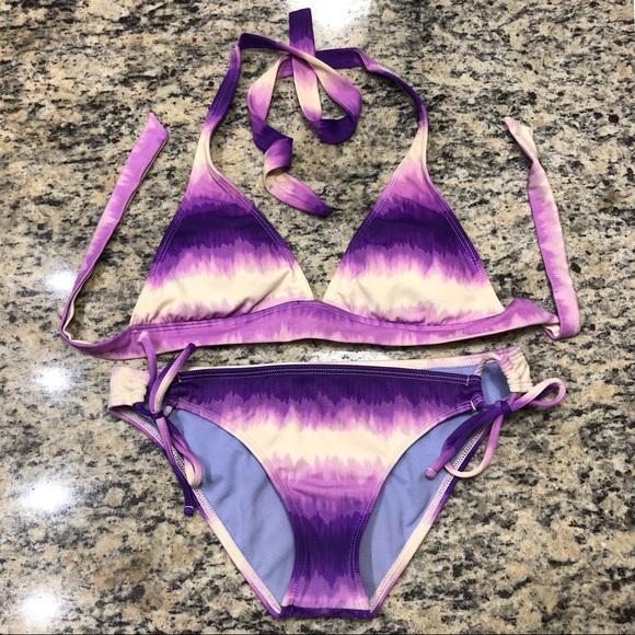 Raisins Other - Raisins Purple Tie Dye Halter Bikini
